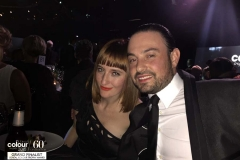 Ross Charles and Alessandra Ferrara at LOreal colour Trophy 2015