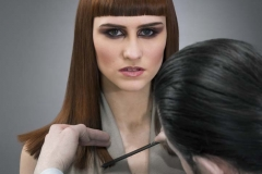Ross charles Working on Caprice Model Loreal Colour Trophy 2015 2