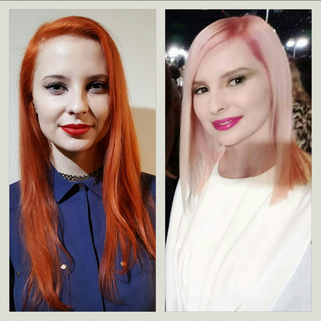 Model with pink hair coloured using L'Oreal #COLORFULHAIR